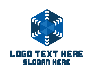 3D Hexagon Arrow Logo