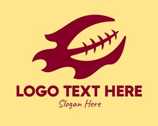 Football - Flaming Football logo design