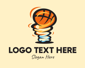 Basketball Equipment - Tornado Basketball Team  logo design