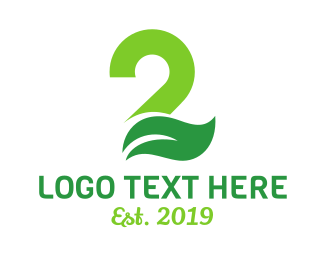 Chiropractor - Green Leaf Number 2 logo design