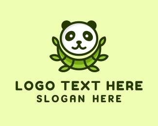 Panda - Panda Bamboo logo design