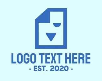 File - Animal Document File logo design