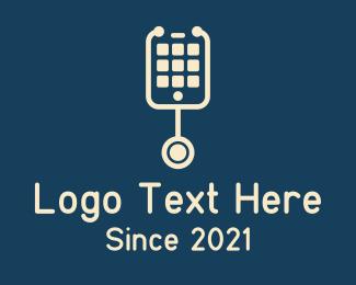 Mobile Phone - Mobile Phone Stethoscope logo design