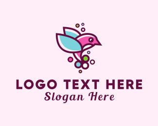 Hummingbird - Cute Hummingbird logo design