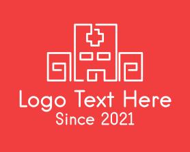 Medical - Monoline Hospital Building logo design