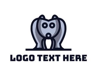 Bulldog - Blue Bulldog logo design