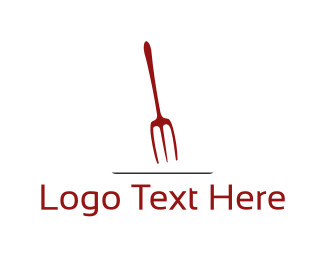 Trident - Red Fork logo design