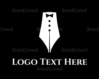Calligraphy - Quill Suit logo design