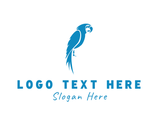 Macaw - Blue Parrot logo design