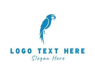 Tropical - Blue Parrot logo design