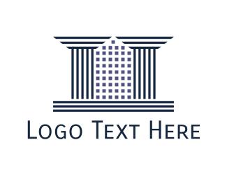 Council - City Pillars logo design
