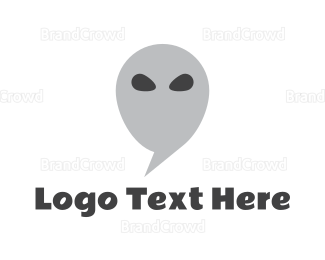 Alien - Alien Chat logo design