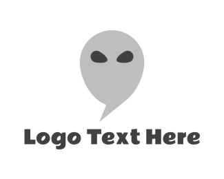 Alien - Alien Chat logo design