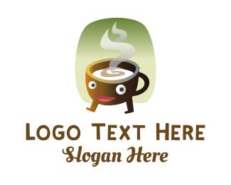 Hot - Happy Hot Coffee logo design