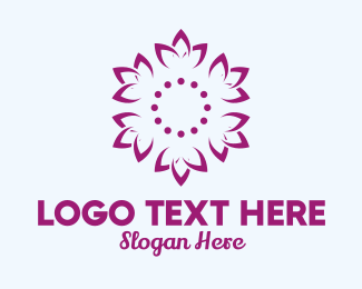 Lotus Flower - Purple Lotus Pattern  logo design