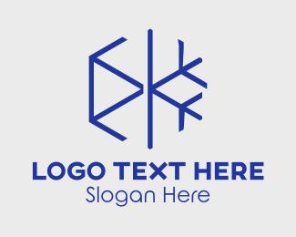 Minimalist Snowflake Logo