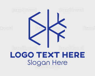 Ice - Minimalist Snowflake logo design