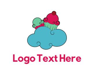 Cupcake - Cloud & Cupcakes logo design