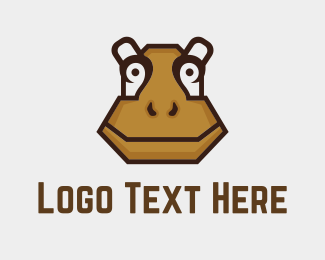 Chocolate - Brown Hippopotamus logo design