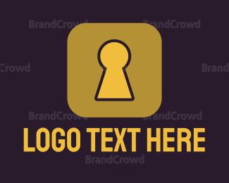 Encrypted - Secure App logo design