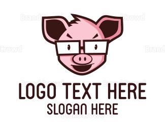 Nerd - Nerd Pig logo design