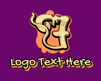 Graffiti - Graffiti Art Number 7 logo design