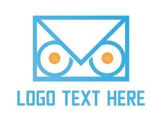 Sms - Owl Mail logo design