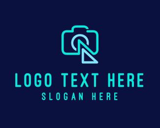 Lens - Flash Camera logo design