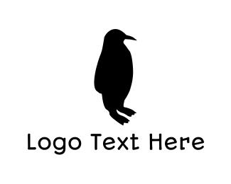 Penguin - Black Penguin Silhouette logo design