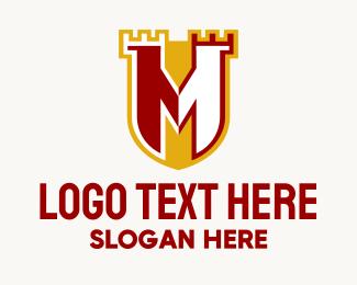 Prince - Letter M Castle  logo design