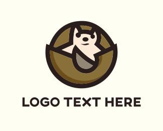 Hedgehog - Armadillo Cartoon logo design