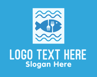 Sea Fish - Blue Fish Seafood Restaurant logo design