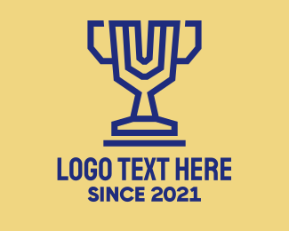 Winning - Digital Trophy logo design