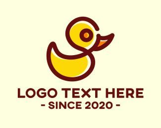 Yellow Duck - Rubber Duck Toy logo design