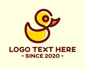 Duck - Rubber Duck Toy logo design