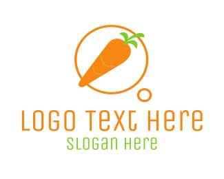 Carrot - vegefancies logo design