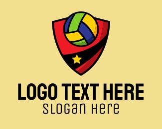 Sports Team - Star Volleyball Team logo design