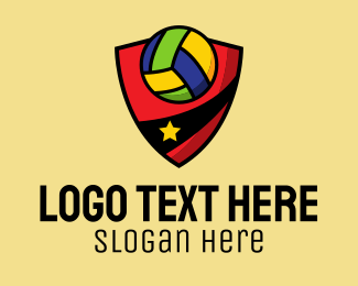 Volleyball Player - Star Volleyball Team logo design