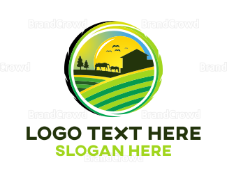 Farm - Horse Farm logo design