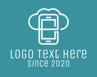 Cloud Storage - Mobile Cloud Storage logo design