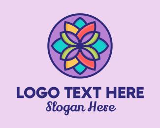 Flower Arrangement - Multicolor Flower Petals  logo design