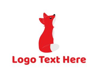 Veterinary - Cute Fox Cub logo design