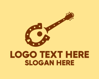 Acoustic - Horseshoe Guitar logo design