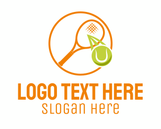 Tennis Ball - Tennis Ball Racket logo design