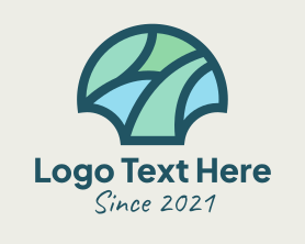 Shell - Mosaic Shell Ornament logo design