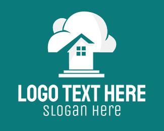 Clouds - White Cloud Home  logo design