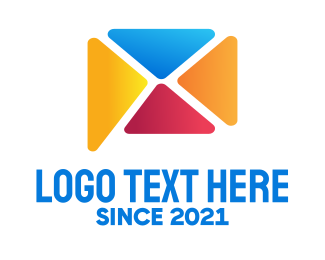 Email App - Mail Messaging App logo design