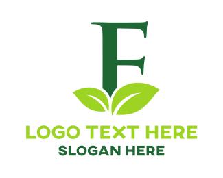 Letter F - Organic Letter F logo design