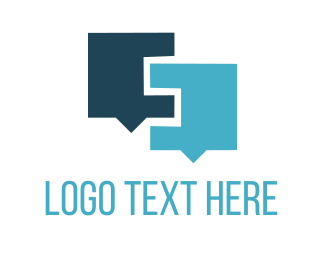 Language - Blue Chat logo design