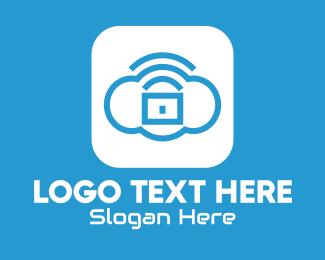 Online Server - Cloud Lock Application logo design